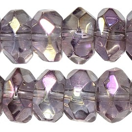 100pcs 6mm Crystal Bead Spacer Aurora Borealis Purple JF2289