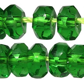 110pc 5mm Crystal Bead Spacer Green JF2296