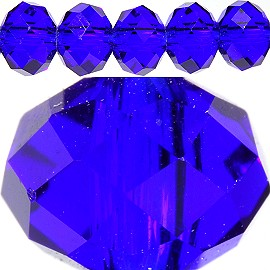 100pc 6mm Spacer Crystal Bead Royal Blue JF270