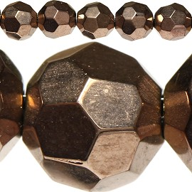 42pcs 8mm Spacers Crystal Round Beads Copper JF306