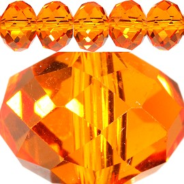 70pcs 12mm Spacers Crystal Beads Orange JF309