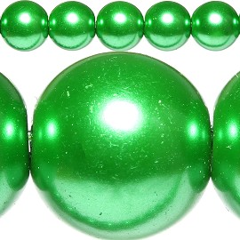 80pc 10mm Spacer Faux Pearl Green JF312