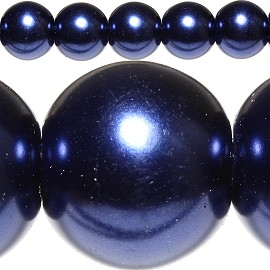 80pc 10mm Spacer Faux Pearl Dark Blue JF316