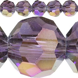 70pc 8mm Spacer Crystal Round Purple Aura JF320