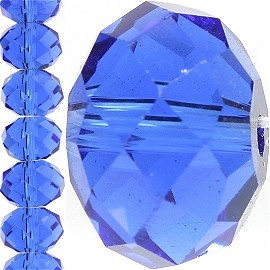 70pc 10mm Spacer Crystal Oval Blue JF342