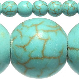 50pc 8mm Earth Stone Bead Spacer Turquoise JF406