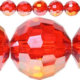 40pc 12mm Crystal Spacer Round Bead Red Aura JF413