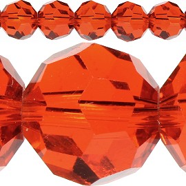 70pc 10mm Crystal Spacer Round Orange JF424
