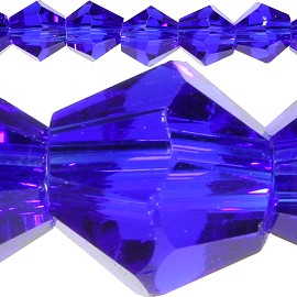120pc 4mm Bicone Crystal Beads Royal Blue JF523