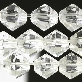 120pc 4mm Bicone Crystal Beads Clear Spacer Parts JF528