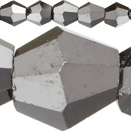 120pc 4mm Bicone Crystal Beads Dark Gray JF534