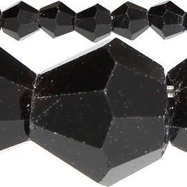 120pc 4mm Bicone Crystal Beads Black JF538
