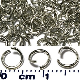150pcs 5mm Chain Circle Spacers Silver JF546