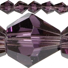 50pc 6mm Bicone Crystal Beads Purple JF560
