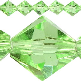 30pc 12mm Bicone Crystal Beads Light Green JF579