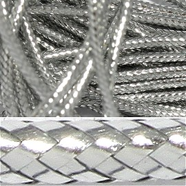 "39' ft or 468""in long, 2mm Woven String Silver JF646"