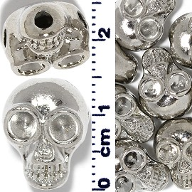 8pcs Skull Head Spacer 2mm Hole Side Top Bottom Part JF725