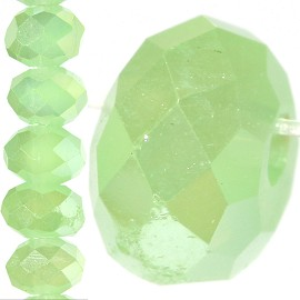 130pc Crystal Cut Bead Spacer 4mm Baby Green JF734