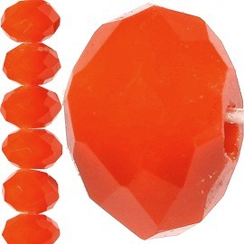 150pc 4mm Crystal Bead Spacer Orange JF755