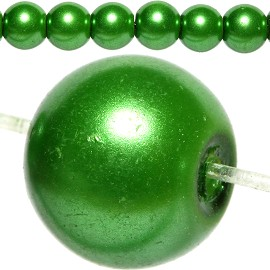 100pc Pearl Bead Ball Spacer 8mm Green Bright JF808