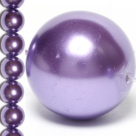 35pc 14mm Faux Pearl Spacer Lavender JF840