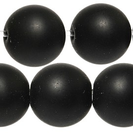 38pcs 10mm Smooth Round Bead Spacer Matte Black JF890