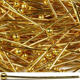 200pcs 19mm Bendable Jewelry Making Headpin Gold Part JFE015