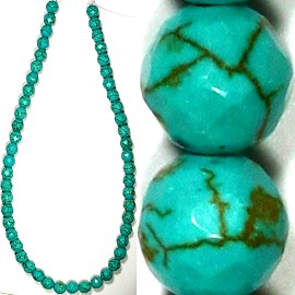 48pc 8mm Earth Stone Bead Spacer Turquoise JM-107
