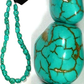 37pcs 9mm String Spacer Turquoise Stone Bead JM-110