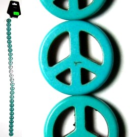 26pcs Jewelry Parts String Turquoise Beads Peace JM-86