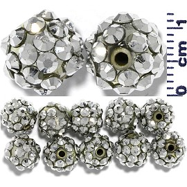 Disco Rhinestone Ball 12mm Silver12pcs JP1022