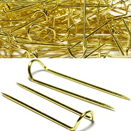 About 100pcs U Pins 24x6x4mm Gold JP1000