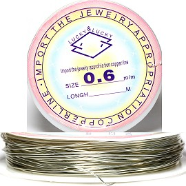 19' Feet Long Bendable 0.6mm Metal String Silver JP104