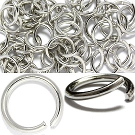 50pcs 12mm Round Chain Spacers Links Parts Silver JP105