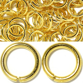 125pcs 6mm Ring Chain Spacer Light Gold JP125
