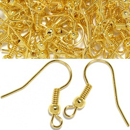 50pc Earring Hooks Jewelry Part Gold JP168