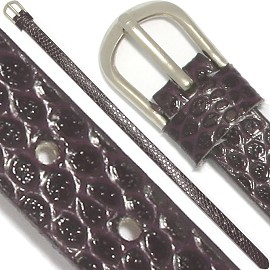 "4pc 8""x7/16"" Letter Band Bracelet Leather Dark Purple JP266"