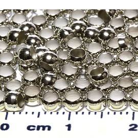 100pc 4mm Crimp Beads Silver JP351