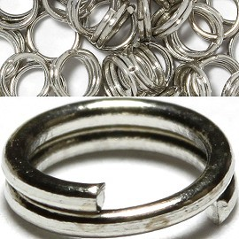 75pc 10x2mm, Hole is 10mm Split Ring Silver JP391