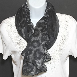 "1pc 68x42"" Scarf Thin Black Gray KZ109"