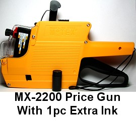 MX-2200 Price Gun Labeller w/ Extra Ink MX22