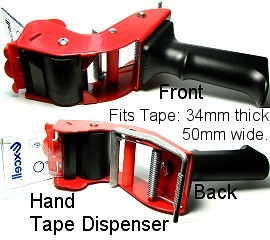 Hand Held Tape Dispenser Red Black MXTD