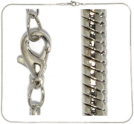 "12pc 17"" Metal Chain Gray Silver NK410"