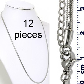 "12pcs 20""22"" Stainless Steel Chain Necklace 3x1mm NK646"