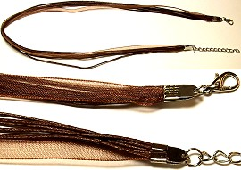 "18"" Dark Brown 4 Rope 1 Ribbon Narrow Head Ns08"