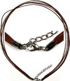 "18"" Cord 5 Strings Necklace Light Brown Ns100"