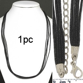 "1pc 18"" 5-String Cord Necklace Black Ns113"