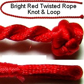 "50pcs-pk 17"" Cord Twisted Knot Loop Red NK161"