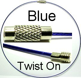 "Blue Twist On 16"" Wire Cord Ns195"