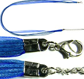 "Blue 4 Rope, 1 Ribbon 23"" Cord Ns243"
